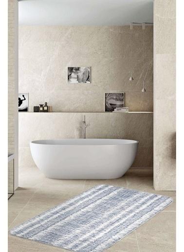 Hamur Denim 75x125 cm Banyo Paspası Kaymaz Taban Banyo Halısı Renkli